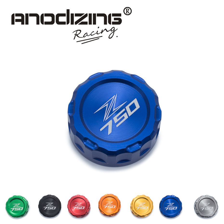 FREE SHIPPING Hot sale For KAWASAKI Z750 Z 750 2010-2014 Motorcycle Accessories Rear Brake Fluid Reservoir Cap Oil Cup with logo aftermarket free shipping motor parts for motorcycle 1989 2007 suzuki katana 600 750 billet oil brake fluid reservoir cap chrome