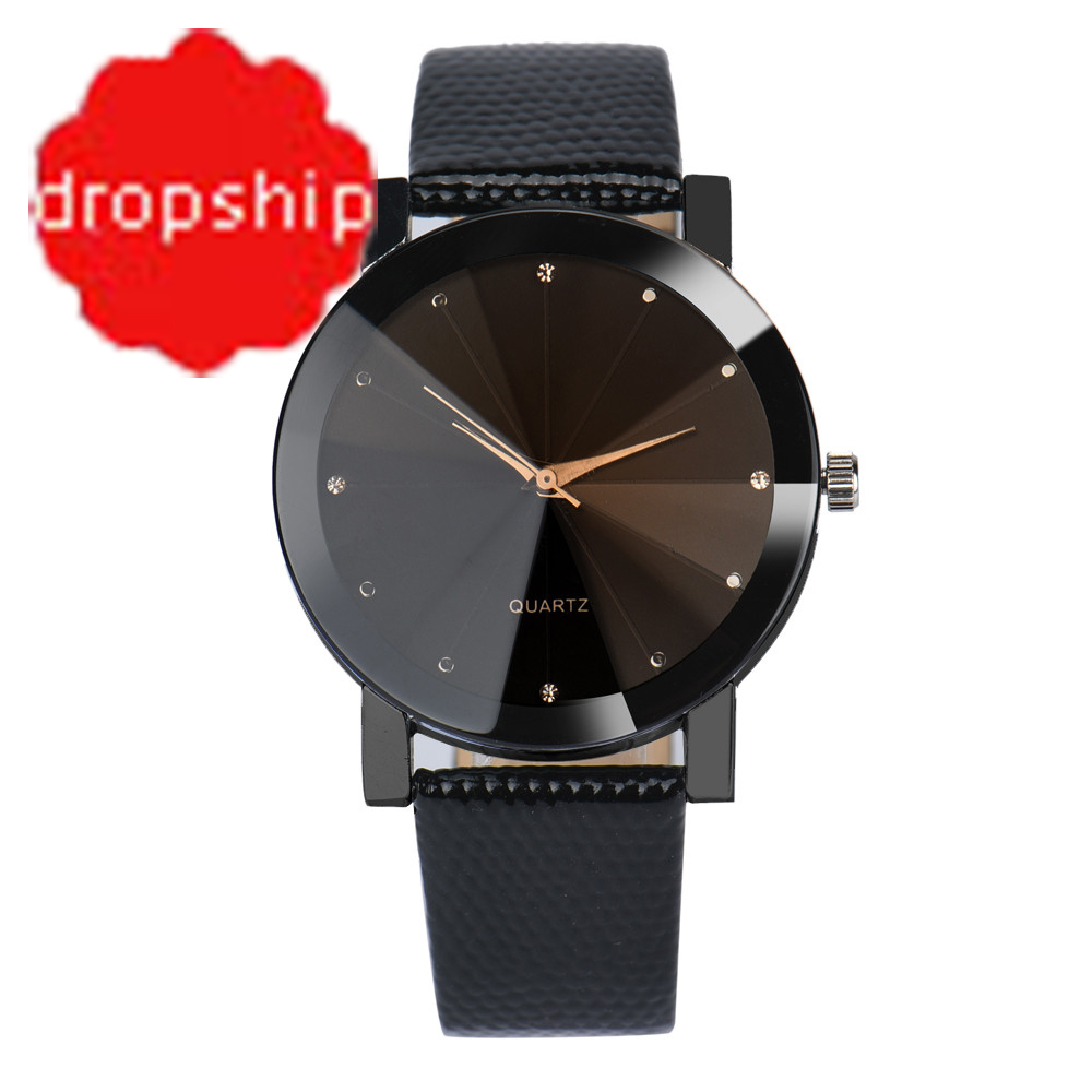 dropship Relogio Feminino Fashion Leather Quartz Analog Women Watch Casual Ladies Watches High Quality Quartz Wrist Watch cute cat watch women pu leather wrist watches vogue ladies casual analog quartz watch 2017 new fashion clock relogio feminino