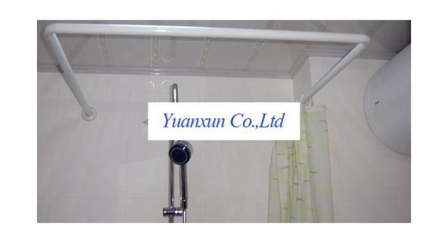 8 Off Bathroom Shelf U L Type Shower Curtain Rod Punch Holder