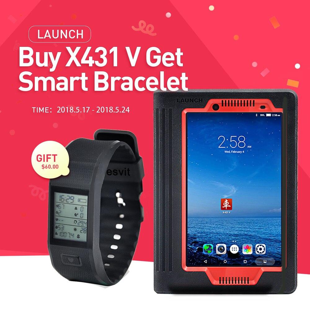 Запуск X431 V 8 дюймов версия Bluetooth/Wi-Fi полная Системы Авто OBD2 инструмент диагностики Multi-Язык онлайн обновление как X-431 PRO Инструмент