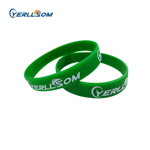 Image 1 - YERLLSOM 50pcs/Lot High Quality Customized personal printed rubber silicone bands for events Y101003