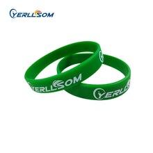 Yerllsom 50 ピース/ロット高品質カスタマイズされた個人プリントゴムシリコーンバンドイベント Y101003