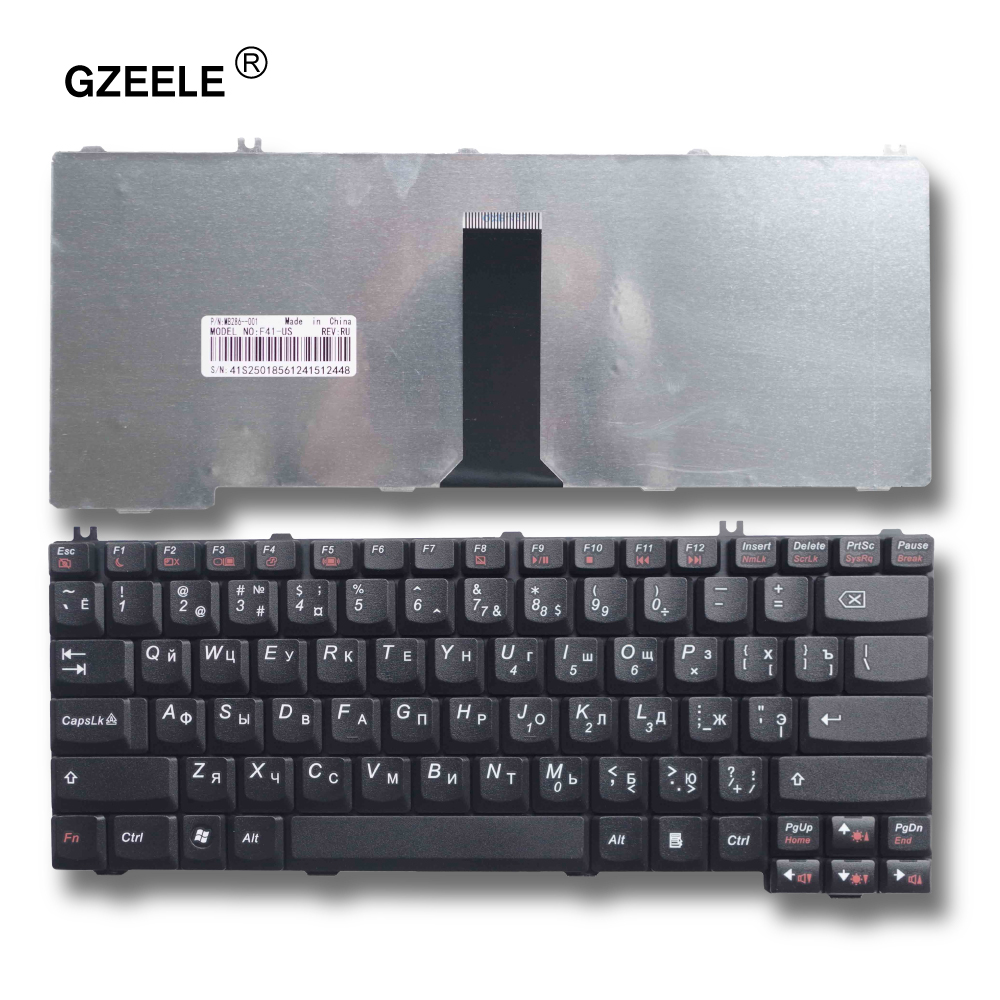GZEELE ruso teclado del ordenador portátil para LENOVO 3000 C100 C200 F31 F41 G420 G430 G450 G530 A4R N100 N200 Y430 C460 c466 C510 RU layout