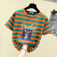 Summer New Women Short Sleeves Casual Solid T shirts Cotton Streetwear Punk T shirts For Women