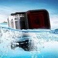 Para gopro hero 5 caso com caso da habitação de mergulho à prova d' água ação acessórios da câmera filtro para go pro hero 5