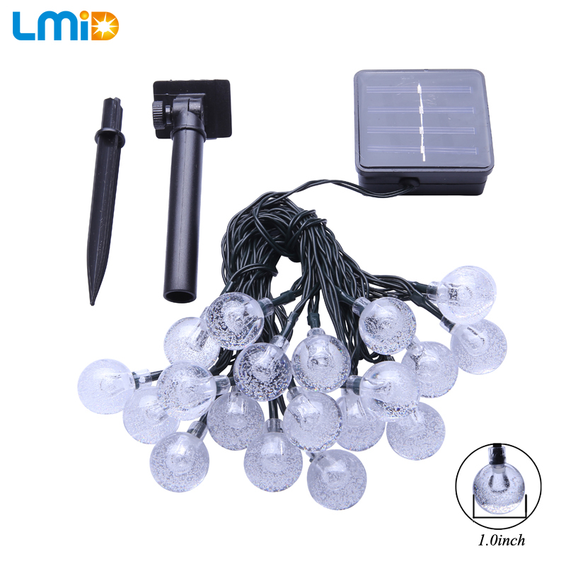 LMID Solar Lampen Kristallkugel Wasserdichte Bunte Fee Outdoor Solar - Außenbeleuchtung - Foto 2