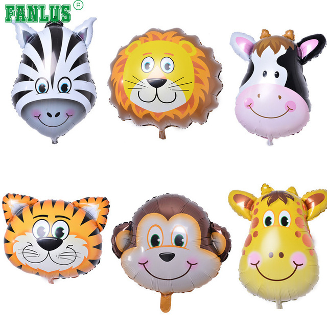 fanlus jungle animals balloons 22 inch giant zoo animal balloons kit