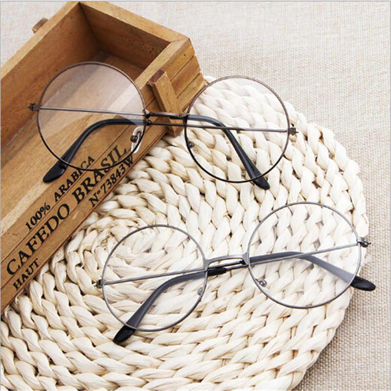 5eefef7b624 ... Retro Large Round Glasses Oversized Metal Frame Clear Lens Round Circle  EyeGlasses Women Men Eye Glasses ...