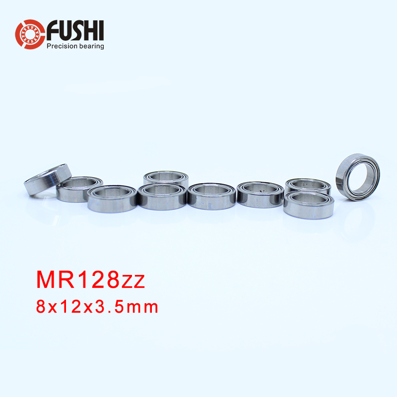 MR128ZZ Bearing ABEC-5 ( 10 PCS ) 8*12*3.5 Mm Miniature MR128-2Z Ball Bearings MR128 ZZ