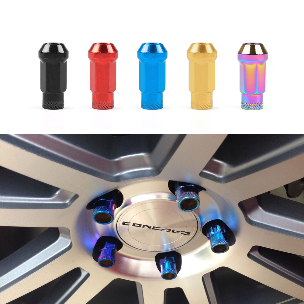 20PCS M12 X 1 5 M12 X 1 25 Wheel Lug Nuts 47mm Iron Racing Lock Lug Wheel Nuts Screw in Nuts Bolts from Automobiles Motorcycles