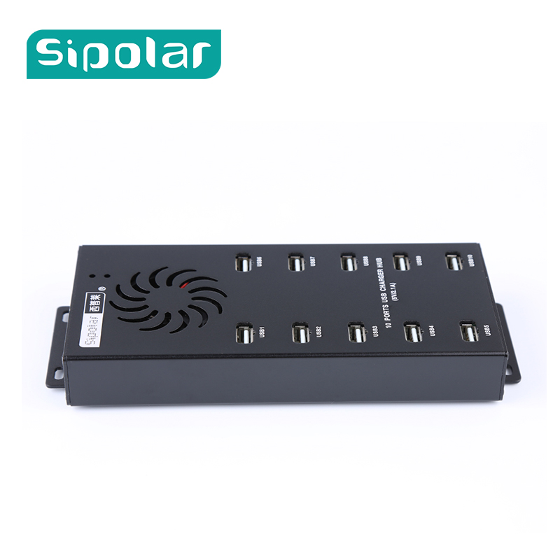 Sipolar A-400 de puertos 10 puertos usb 2,0 Bitcoin miner centro para teléfono Ipad tabletas computadoras portátiles de datos y carga, haga clic en granja