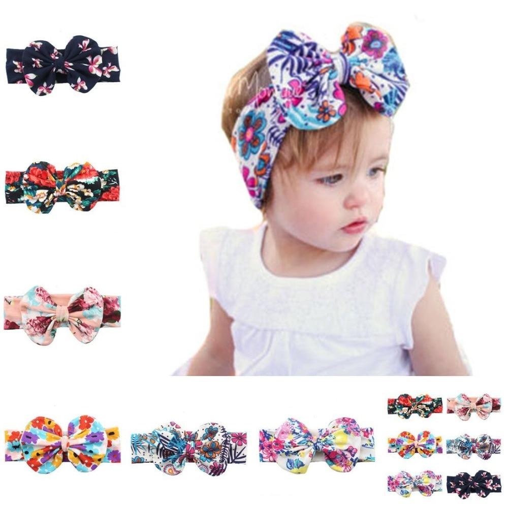 28e650393d2b2 New1PC Lovely Kids Girls Pinwheel Bow Headband Solid Ribbon Bow ...