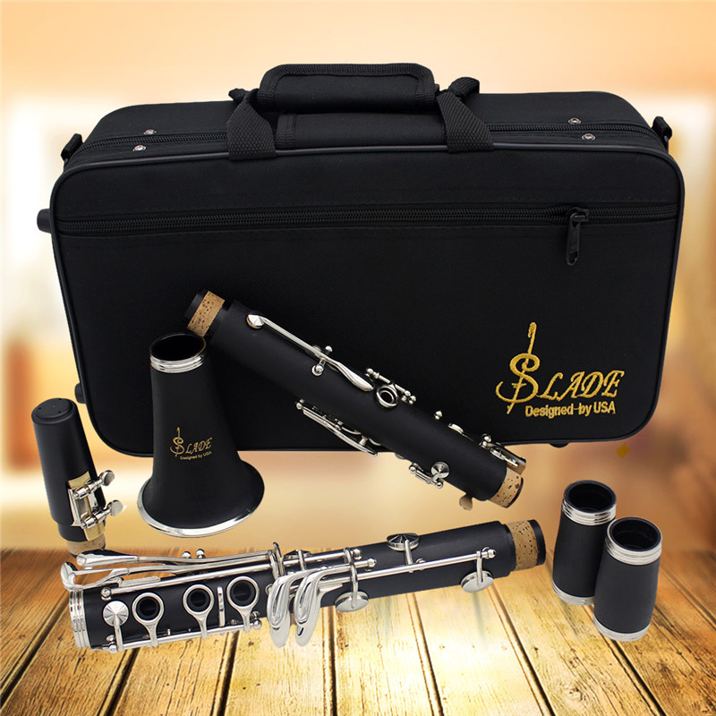 17 key ABS Clarinets Bb Soprano Flat Binocular Clarinets With Cleaning Cloth Gloves Reed Screwdriver Instrument +10 Reeds все цены