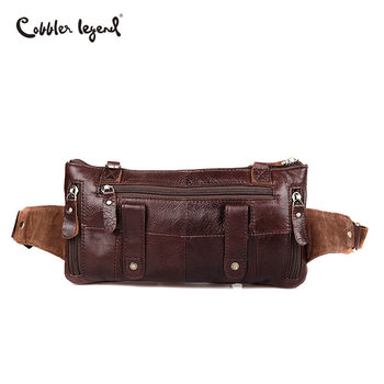 Fanny Packs For Men | Cobbler Legend Brand Designer Men Waist Bag Genuine Leather Belt Bag Solid Coffee Phone Pouch Quality Fanny Pack Waist Pack