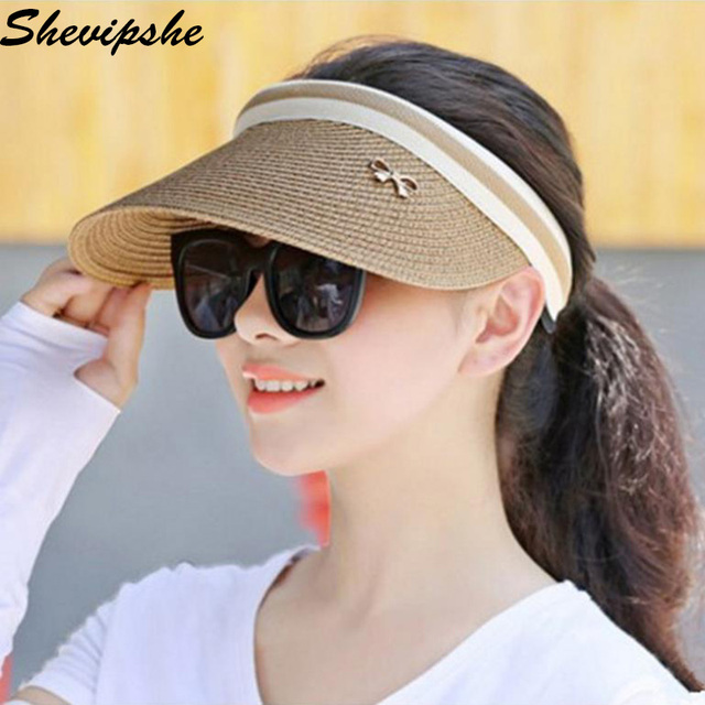 Women Beach Hat Adjustable Unisex Visors Cap Sun Anti-UV Summer Outdoor Sun  Visor Hat Sport Golf Baseball Tennis Hat Cap Gift 2219db9f2c2