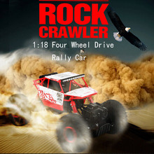 Buggy RC Car Rock Crawlers Hobby Toy 1/18 2.4G 4CH 4-Wheel Double Motors Truck Bigfoot Remote Control Car Model Off-Road HBP1803