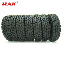 4 pcs/set fit for Tamiya 1:14 tractor truck trailer climbing car rubber tires tyres accessory