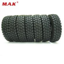 цены на 4 pcs/set fit for Tamiya 1:14 tractor truck trailer climbing car rubber tires tyres truck accessory  в интернет-магазинах