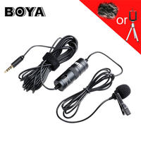 BOYA Label Lavalier Omnidirectional Condenser Microphone For IPhone Samsung LG For Canon Nikon DSLR Camcorder Audio