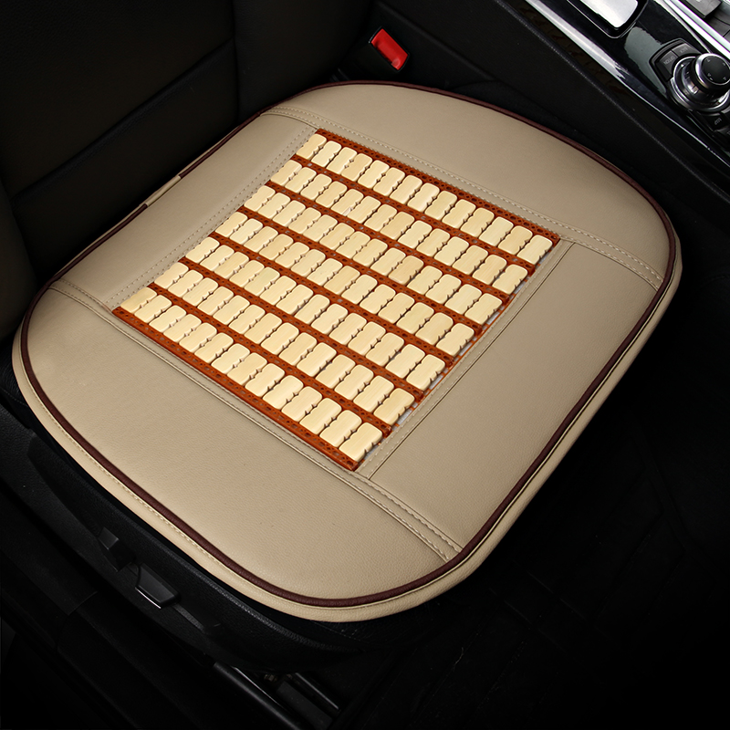 car seat cover Bamboo and leather interior car seat Cushion Pad Front Rear Seat Cover Summer cool breathable essential 3 pcs set
