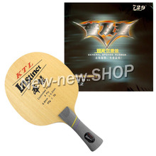 Pro Combo Racket KTL Instinct Blade Shakehand with 2x RITC 729 General Rubbers for a Racket Shakehand long handle FL