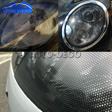 50*107cm Mesh Film One Way Vision Perforated Black Fly Eye Window Car Rear Light Headlight Legal Tint(China)