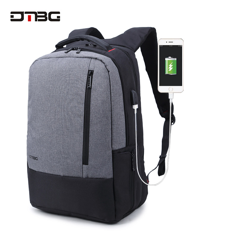 DTBG Brand Laptop Smart Backpack Vintage Patchwork Mochilas USB Charging Port School Bag For Teens Men Women Anti Theft Rucksack dtbg canvas backpack for 17 3 inch laptop smart travel rucksack with usb charging port anti theft plecak bagpack mochilas sac page 5