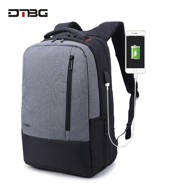 092d1cecaf DTBG Brand Laptop Smart Backpack Vintage Patchwork Mochilas USB Charging  Port School Bag For Teens Men