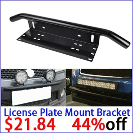 Universal License Plate Mounting Bracket Front Bull Bar Bumper Holder License for OffRoad LED Work Light Bar Off Road Offroad
