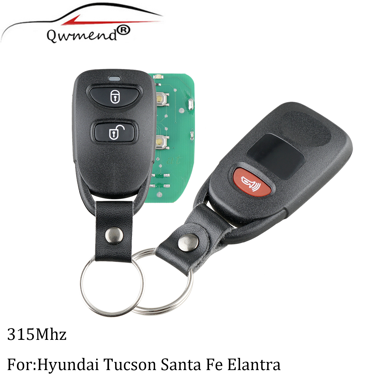 4B Remote Key Fob 3 Button+Panic 315MHz for Hyundai Elantra Sonata 2007-2010