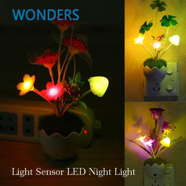 Us plug romantische bloem paddestoel vaas licht sfeer sense controle ...