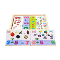 Baby Learning Educational Wooden Toys Digital Cartoon Puzzle Jigsaw Card Math Arithmetic Matching Enlightenment Kids Gifts
