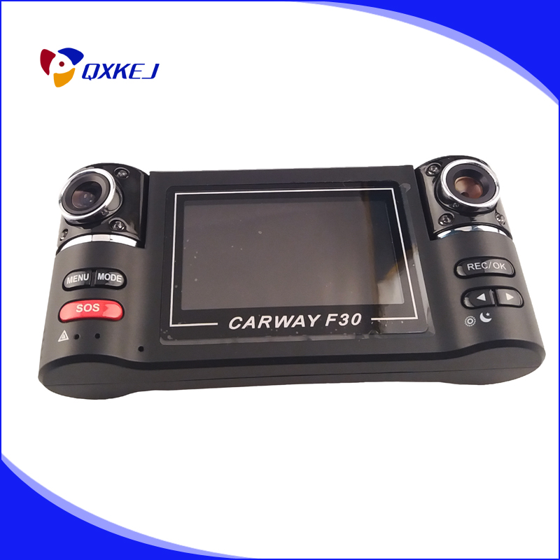 Carway F30 Car DVR 2.7 TFT LCD HD 1080P Dual Camera Rotated lens Vehicle Driving Digital Video Recorder Night Vision Camcorder findfine 1 5 inch screen ltps tft lcd 4x digital car driving camera video recorder dvr night g sensor sos m867