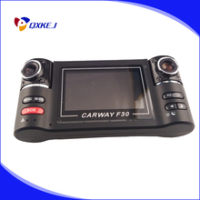 Cheap price Carway F30 Car DVR 2.7″ TFT LCD HD 1080P Dual Camera Rotated lens Vehicle Driving Digital Video Recorder Night Vision Camcorder
