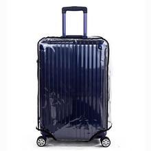 Walizka bagażowa pokrowiec ochronny pokrywa przezroczysta pokrywa 20 22 24 26 28 30 Dust Bag Pokrowce na walizki podróżne akcesoria tanie tanio EO01475 walizka bagażowa Jako photoshopzachody 255g Stałe Pokrowiec na bagaż iSHINE Akcesoria podróżne