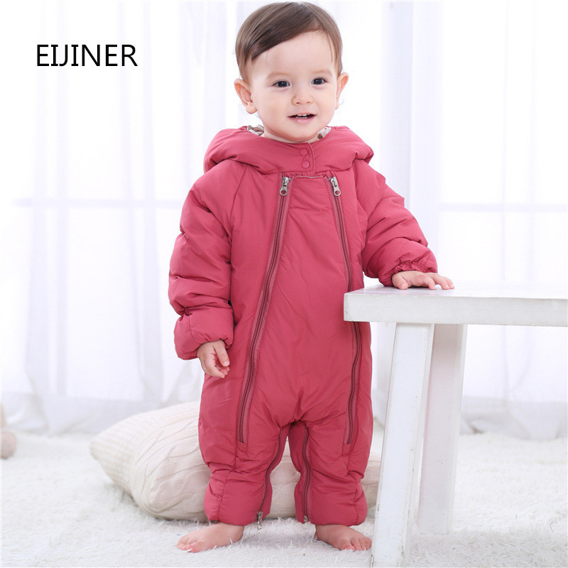 Plus Thicken Newborn Baby Rompers for Girls Cotton Padded Winter Warm Baby Boy Rompers infant baby girl clothes Kids jumpsuits newborn baby girls rompers cotton padded thick winter clothing set cartoon bear infant climb hooded clothes babies boy jumpsuits