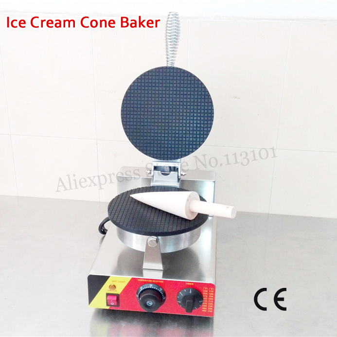 Ice Cream Cone Machine Stainless Steel Crispy Pancake Waffle Maker 220V 110V with Cone Mold ice cream silica gel mold