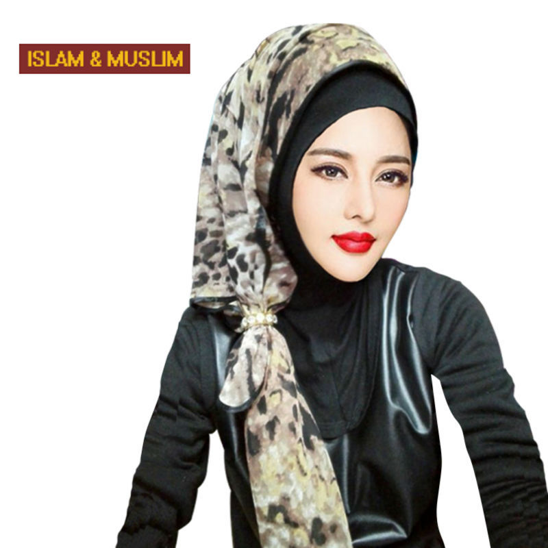 2016 Nouveau style bandeau l\u0027islam mode foulard musulman femmes instant  hijab carré turban imprimé