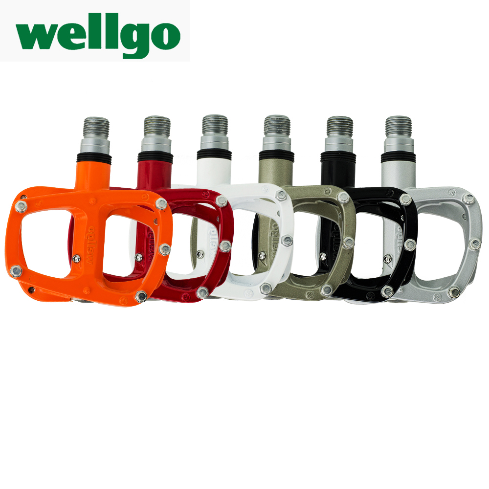 Wellgo R146 MTB Pedal Non-quick release Bike Bicycle Magnesium alloy body material Ultra-Light Road 312g