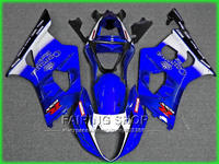 Injection bodywork free customize fairing kit for Suzuki GSXR1000 03 04 K3 blue black white fairings GSXR 1000 2003 2004 WT09
