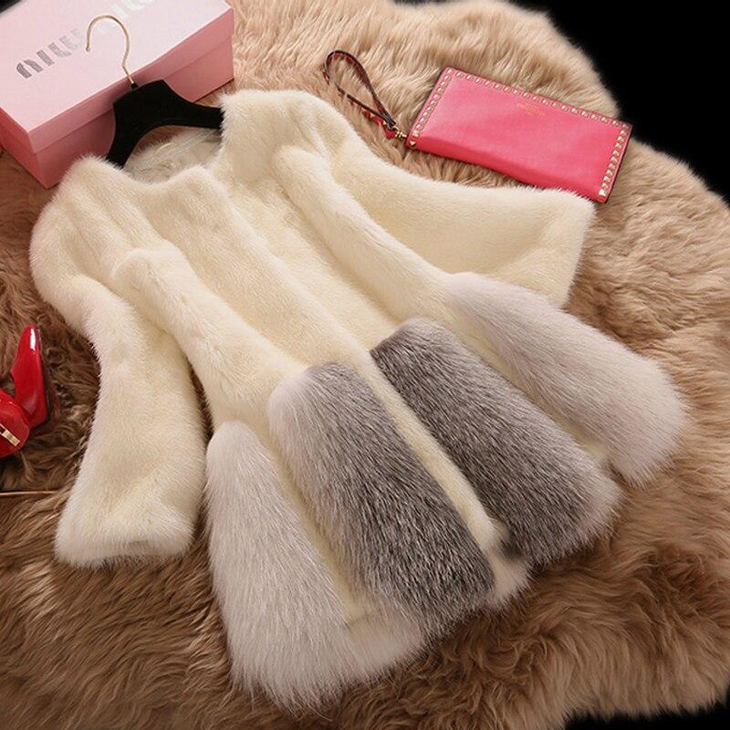 Women's Fur Coat 2018 Brand Luxury Fashion Artificial Fur Coat Female Winter Long White Faux Fur Overcoat Manteau Fourrure Femme