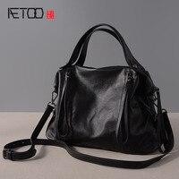 AETOO Deri çanta çanta yeni Avrupa ve Amerikan moda deri büküm omuz çantası bayanlar çanta