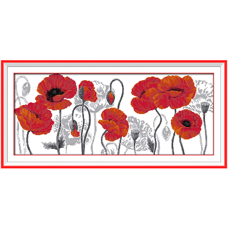 Hermosa flor Pegatinas para uñas puntada en cruz 11 14ct Cruz ...