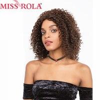 Мисс Рола волос предварительно Цветной парики #2/4 Цвет бразильский странный вьющиеся короткие волосы парики для Для женщин всей машины сред