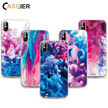 CASEIER Colorful Painting Case For iPhone 7 8 X XR XS MAX X Wallpaper Style Phone Case For iphone 6 6s 5 5s SE Back Cover Shell стоимость