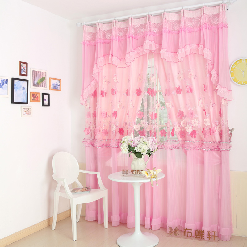 Chiffon Curtains Pink