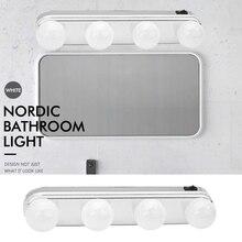 Studio свечения составляют супер яркий свет 4 светодио дный лампы Карманное косметическое зеркало свет комплект Батарея питание легкий макияж