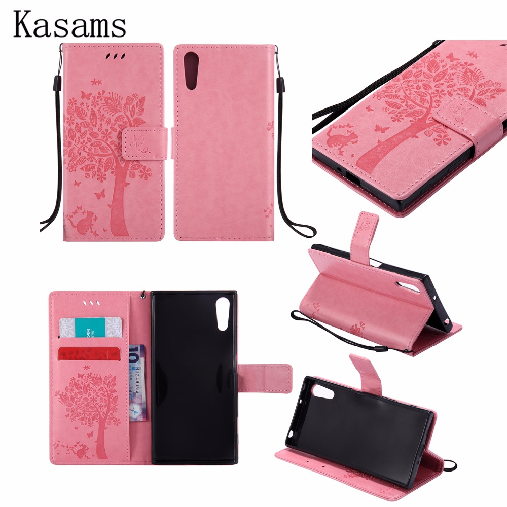 3D Tree For Sony Xperia XZ Leather Mobile Case For