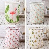 Nordic Style Flamingos Laundry Basket 50*40c'm Folding Bucket Sundries Toy Storage Basket Dirty Clothes Baskets Organization Box