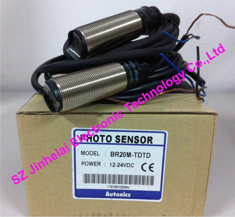 New and original BR20M-TDTD, BR20M-TDTD-P AUTONICS PHOTO SENSOR 12-24VDC new original authentic sensor br4m tdtd